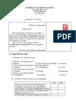 Subiecte Limba Franceza Gimnaziu Regim Normal 2012