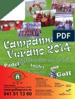 Cartel Campamentos 2014