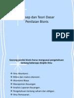 Konsep Dan Teori Dasar Penilaian Bisnis(IV)