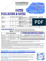 City of Wooster 2014 Pool Hours & Registration Form