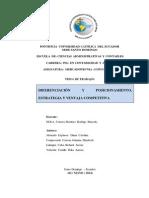 Diferenciación y Posicionamiento, Ventajas y Estrategias Competitivas Grupo 4 CORREGIDO