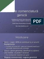 nomenclatura mutatii