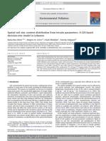 Spatial Soil Zinc Content Distribution From Terrain Parameters a GIS