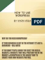 Vhon_Vega_How to Use Wordpress