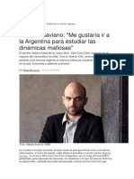 Hugo Beccacece. Entrevista a Roberto Saviano.