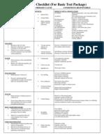 Analysis Checklist