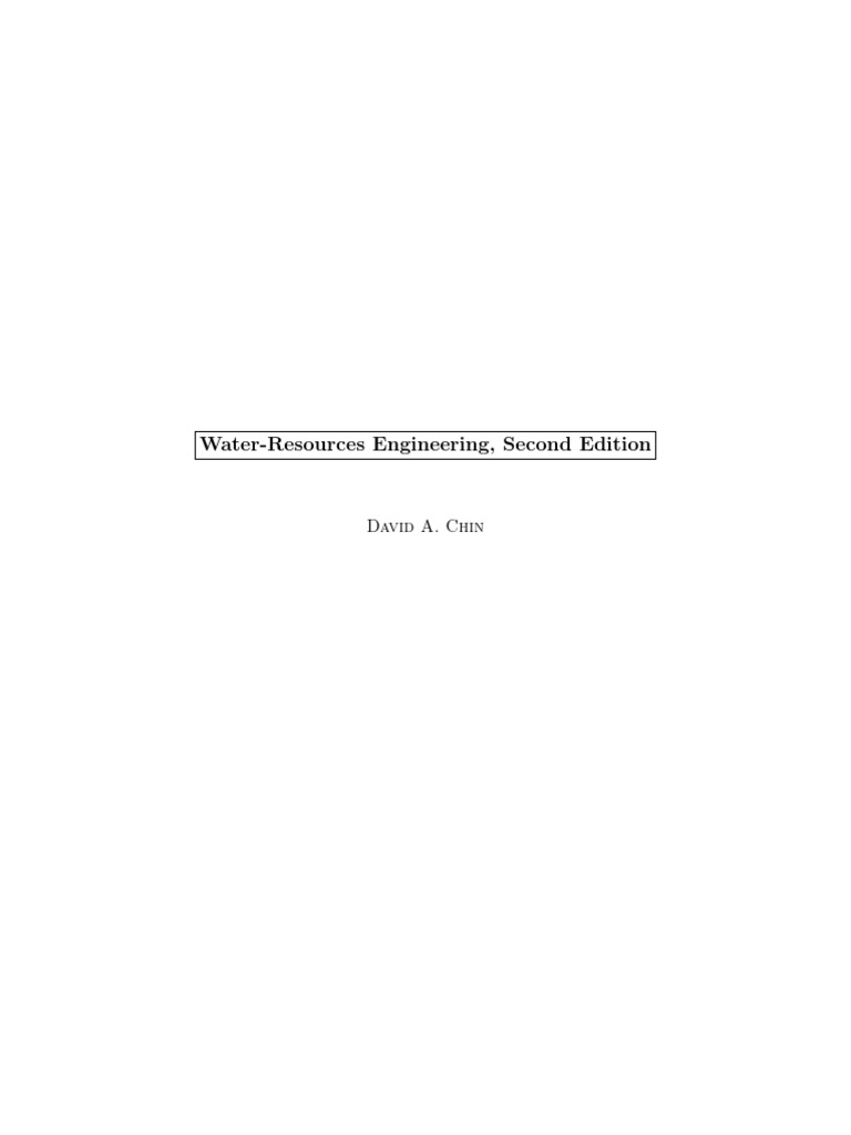 Water Resources Engineering Chin Momentum Pipe Fluid Conveyance 555 Timer Pdf Http Wwwwilliamsonlabscom 555tochtm