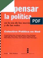 Adamovsky Ezequiel Repensar La Politica en La Era de Los Movimientos y de Las Redes