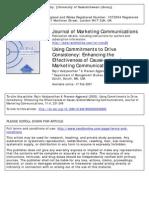 Journal of Marketing Communications Volume 11 Issue 4 2005 [Doi 10.1080_0144619052000345600] Vaidyanathan, Rajiv; Aggarwal, Praveen -- Using Commitments to Dri