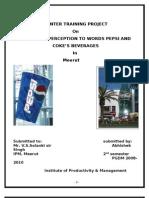 Compartive Study on Pepsi & Coke