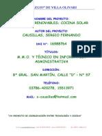 Proy Horno Solar Vo