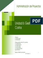 Unidad 6 Gestion de Costos