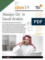 Always On Connected Consumer in Saudi Arabia