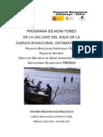 82.Programa de Monitoreo de La Calidad Del Agua de La Cuenca Binacional Catamayo Chira
