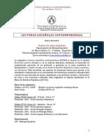 35549x35743. Lecturas Espaxolas Contemporxneas. 2013x14. Prof. Javier Lluch
