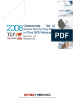 Top10 Service Outsourcing 20 Parks in China