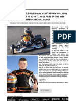 The Very Young Driver Max Verstappen Will Join the Crg