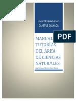 Manual de Turorias de CNCI en Ciencias Naturales Ing. Enrique