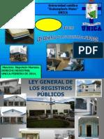 La Nueva Ley General de Registros Publicos.-unica 2012.