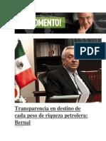 09-05-2014 Al Momento - Transparencia en destino de cada peso de riqueza petrolera, Bernal.