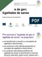 Prezentare Seminar Egalitate de Gen