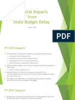 Potential impacts of state budget delays on Fauquier County