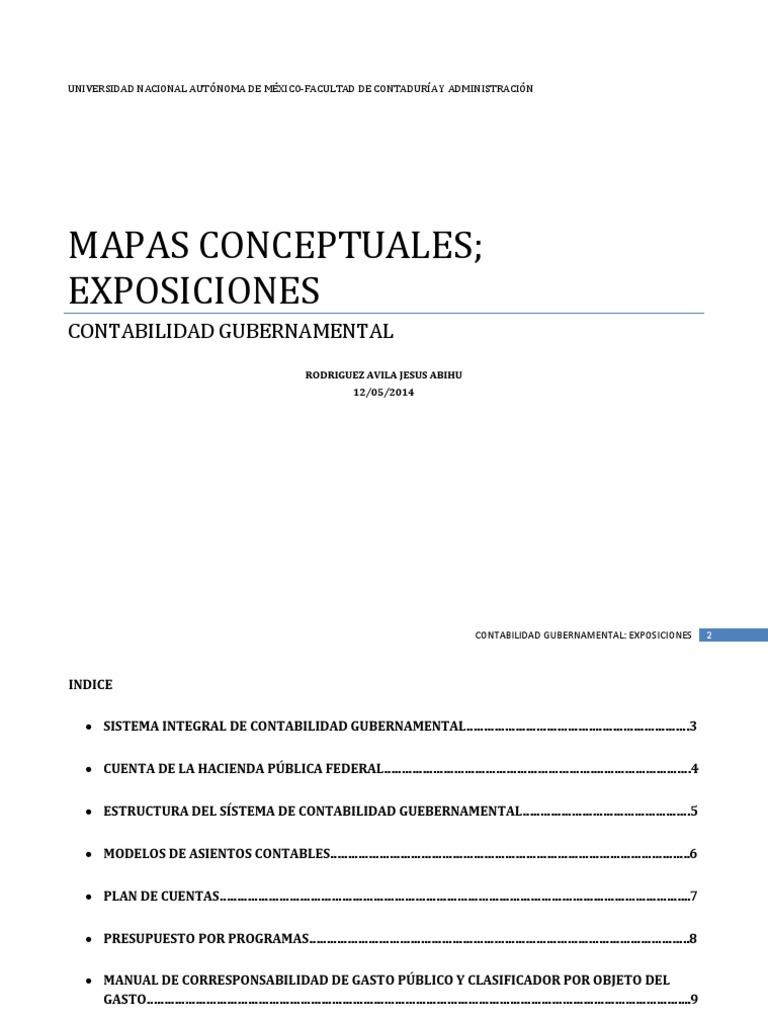 Mapas Conceptuales Contabilidad Presupuesto