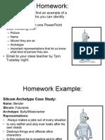 Homework for Sitcom Character