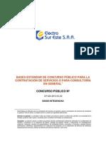 Bases Standar Para Consultoria Instaciones Domiciliarias