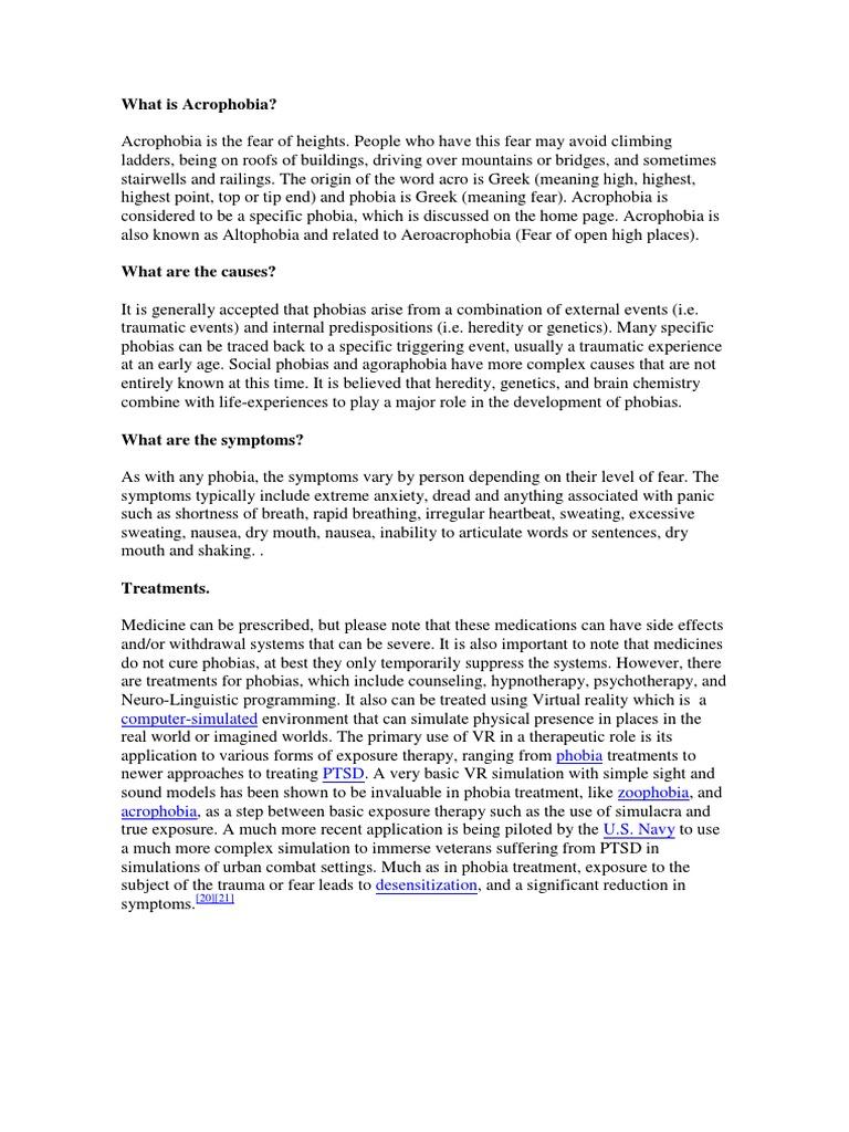What is Acrophobia? | Phobia | Psychological Trauma
