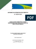 Legislación Comparada Sobre Responsabilidad Penal en Casos de Mala Praxis