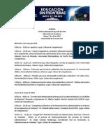 Agenda Visión Latinoamericana VIII Versión