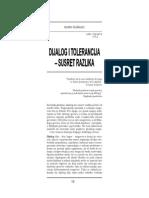 Dijalog i Tolerancija - Susret Razlika