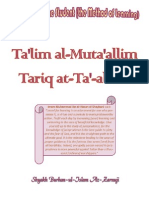Instruction of the Student (the Method of Learning) - Ta'lim Al-Muta'Allim (Tariq at-Ta'-Allam) by Sh. Burhan-ul-Islam Az-Zarnuji