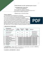 Convocatoria Medico Quirurgica 2013