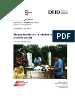 Human Health Risk Rel Lfill Leachate Qual