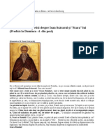 Articol Sfantul Iustin Popovici Despre Ioan Scararul Si Scara Lui Predica La Duminca 4 Din Post