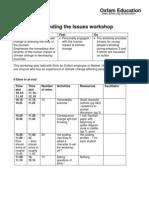 Understanding the Issues Workshop
