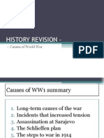 WWI Revision Year 10