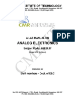 Analog Electronics_Lab MANUAL