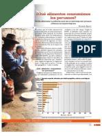 ¿Qué alimentos consumimos los peruanos? Brecha alimentaria