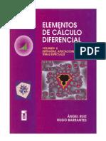 Ruiz a y Barrantes H - Elementos de Calculo Diferencial Vol II