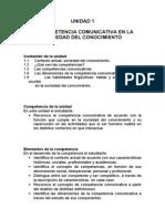 UNIDAD 1 LA COMPETENCIA COMUNICATIVA EN LA SOCIEDAD DEL CONOCIMIENTO.doc