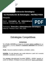 Clase 5 Adm. Estr. Estrategias FODA 14