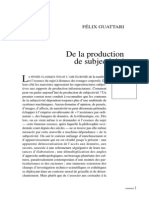 Guattari de La Production de Subjectivité Chimeres