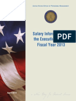 Opm Salary Info for Fiscal Year 2013