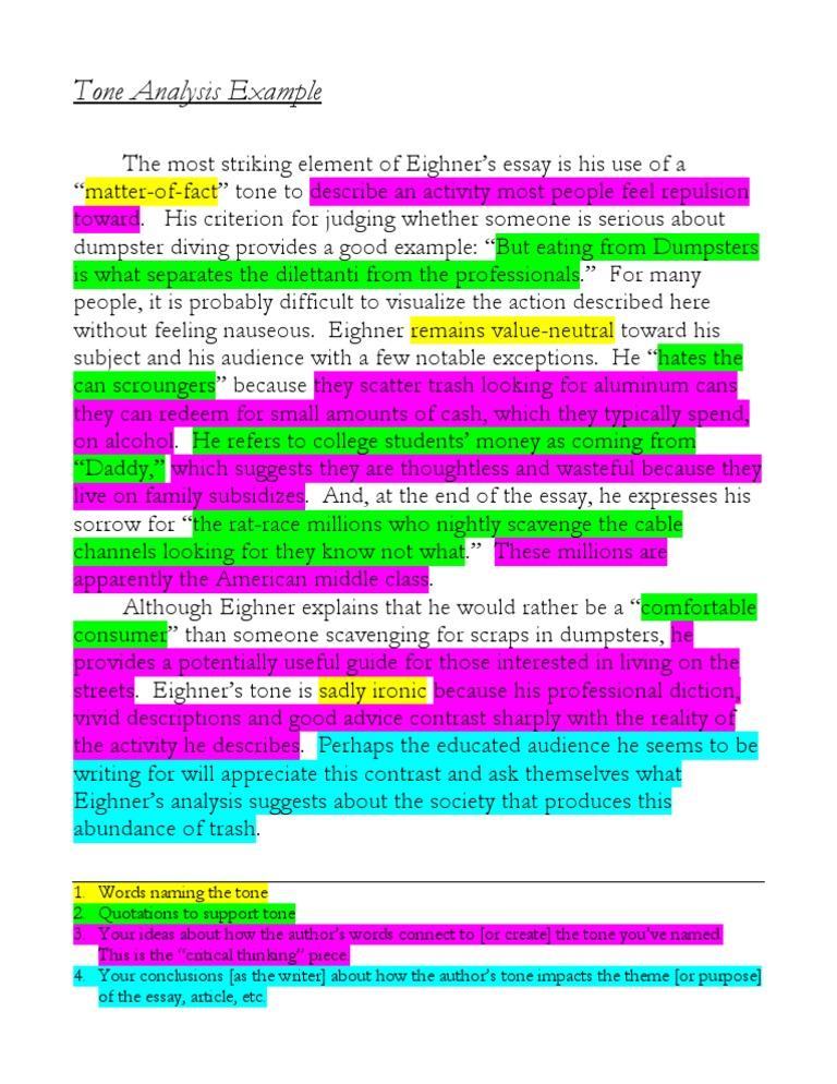 analyzing tone essay