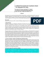 Development of an Artificial Neural Network Constitutive Model for Aluminum 7075 Alloy