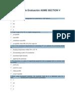 Examen de Evaluación ASME SECTION V