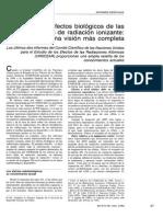 Efectos Biologicos de Las Dosis Bajas de Radiacion Ionizante.